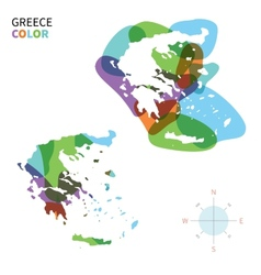 Abstract color map of Greece vector image