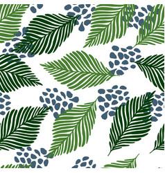 abstract exotic jungle plants texture wallpaper vector image