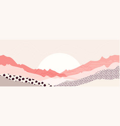 abstract mountain landscape warm pastel colors art vector image