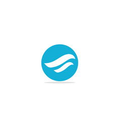 abstract wave flow logo vector image
