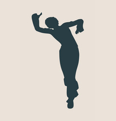 Abstract women in dancing pose vector