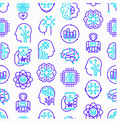 artificial intelligence seamless pattern vector image