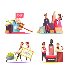 auction situations design concept vector image
