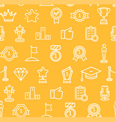 Award signs seamless pattern background vector