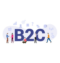 B2c business to consumer concept with big word vector