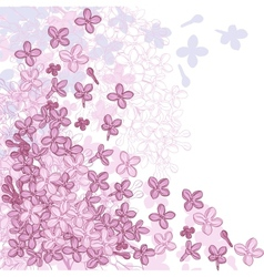 background for design with flowers lilac vector image