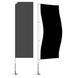 banner flag templates banner flag mockups set vector image