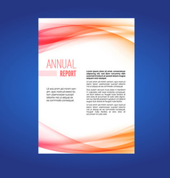 beautiful business annual report swoosh wave vector image
