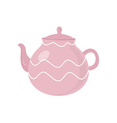 beautiful colored teapot for brewing tea and vector image