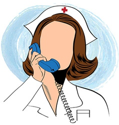 Beautiful friendly and confident nurse talking by vector image