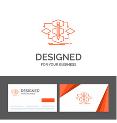 Business logo template for algorithm design vector