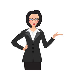 Business woman holding something vector