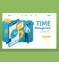businessman engaged in time management using the vector image
