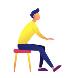 businessman sitting on a chair vector image