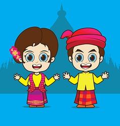Cartoon Asean Myanmar vector