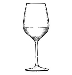 cartoon image of wine icon wine glass symbol vector image