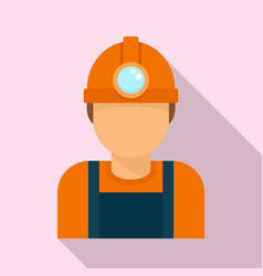 Coal industry worker icon flat style vector