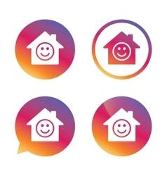 Comedy club Smile icon Happy face symbol vector image