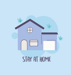 Covid 19 pandemic infographic stay at home vector