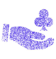 Croupier hand icon grunge watermark vector