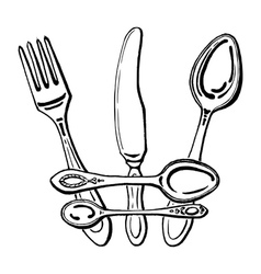 cutlery - Crown vector image
