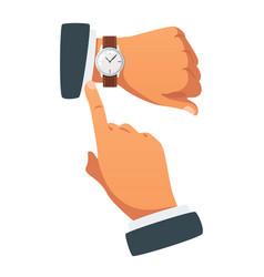 deadline concept hands gesture vector image
