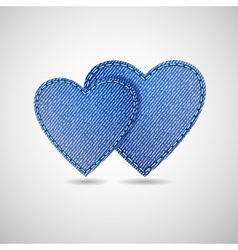 denim hearts vector image