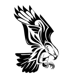 eagle tattoo shape vector image