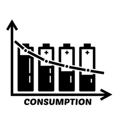 Energy battery consumption icon simple style vector