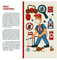 extermination or pest control service and sanitary vector image