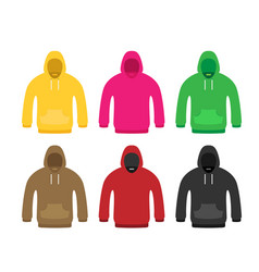 flat icon hoodie element set vector image