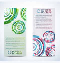 futuristic technology banners set vector image