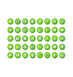 game button templates green vector image