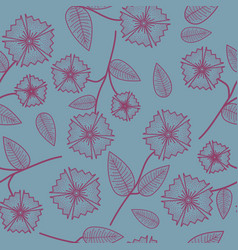 Gentle seamless pattern with abstract flowers vector