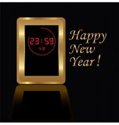 golden digital clock vector image