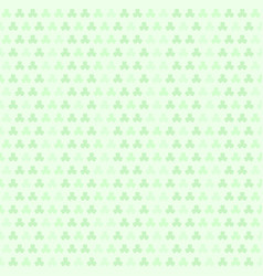 green striped shamrock pattern seamless clover vector image