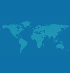 Halftone world map background - dot pattern vector