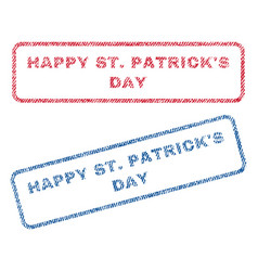 Happy stpatrick s day textile stamps vector