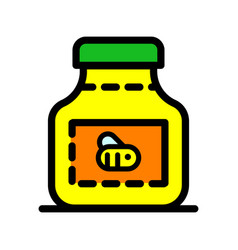 Honey bottle simple icon vector