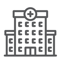 Hospital line icon architecture and building vector