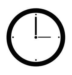 Isolated wall clock vector