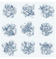Isometric abstractions with lines and different vector