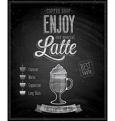 latte chalk vector image