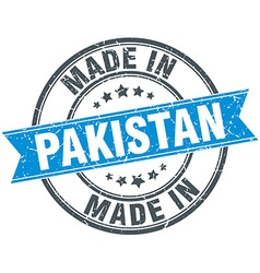 made in Pakistan blue round vintage stamp vector image
