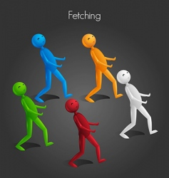 Man fetching vector