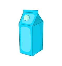 Milk carton icon cartoon style vector image
