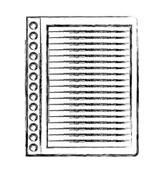 monochrome blurred silhouette of striped notebook vector image
