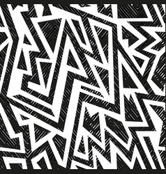 monochrome tribal geometric seamless pattern vector image