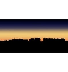 Night city apartment vector