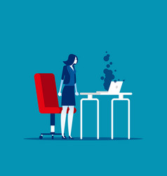 Office laptop crashes concept business technology vector